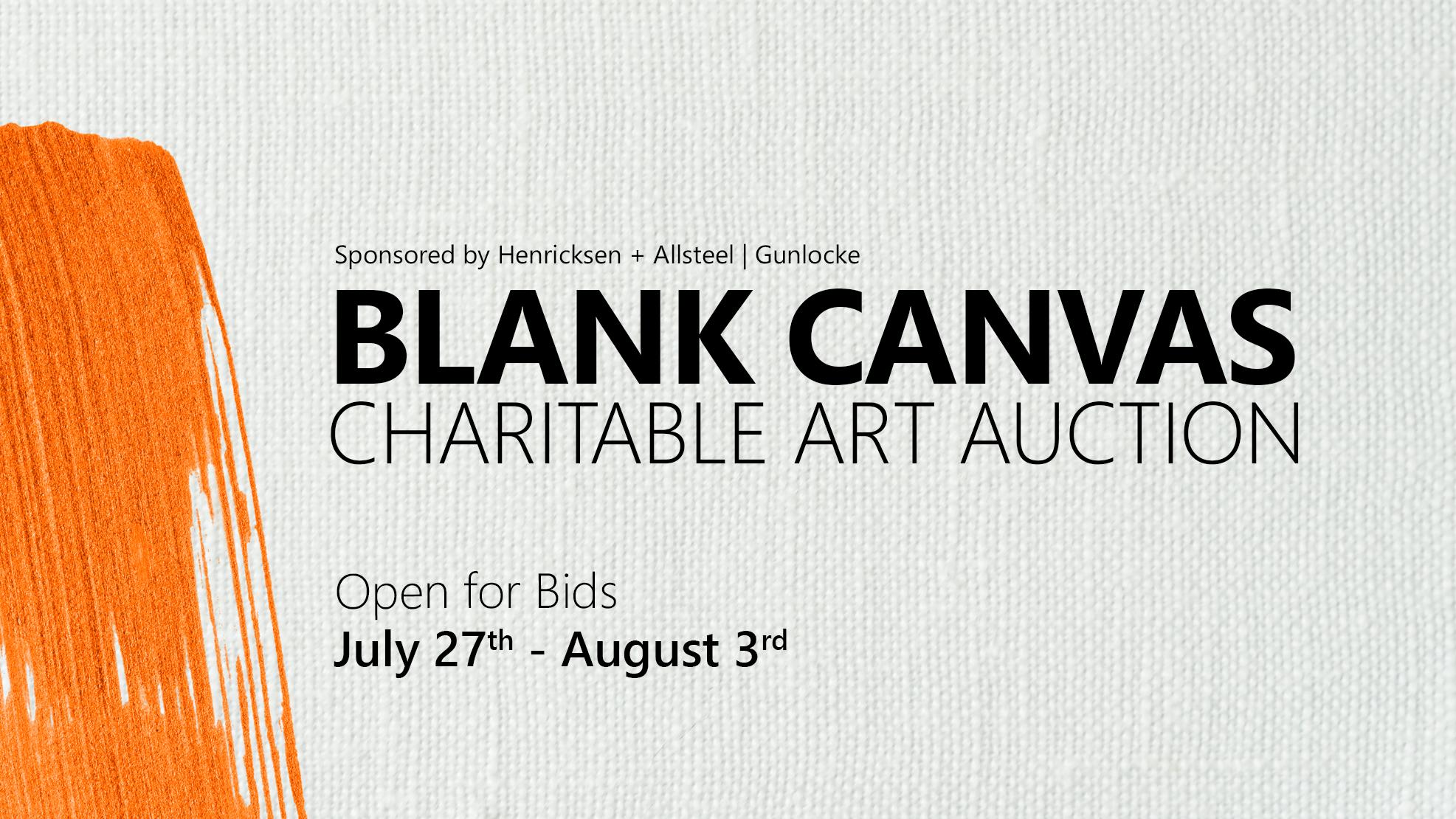 Blank Canvas Charitable Art Auction
